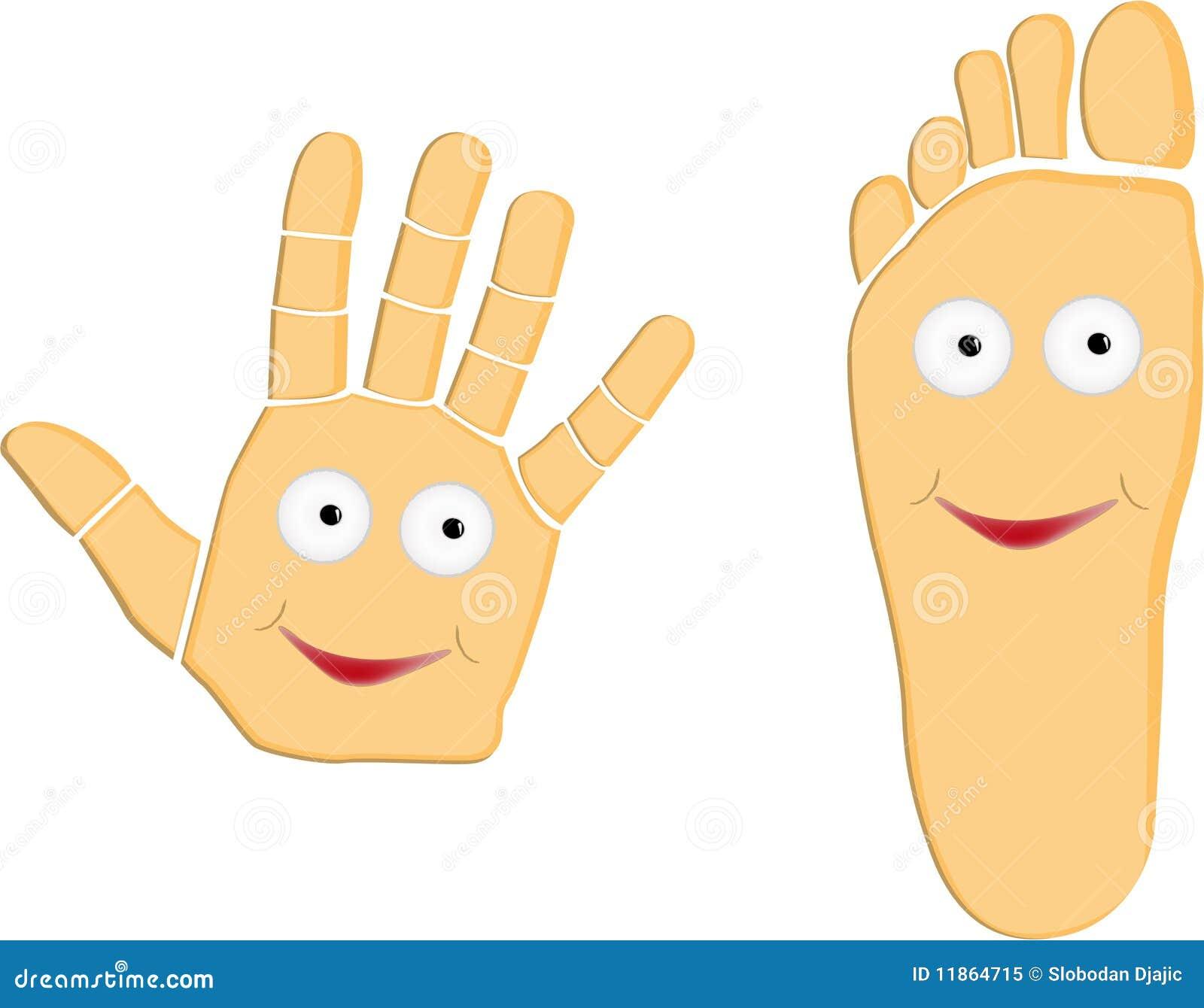 0ca7b82f10a Hand And Foot Cartoon Illustration Stock Vector - Illustration of ...