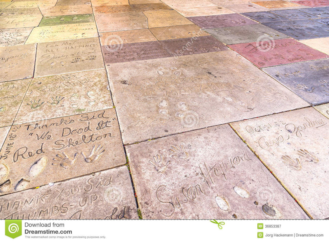 Footprints and Handprints of Hollywood Stars and Starlets ...