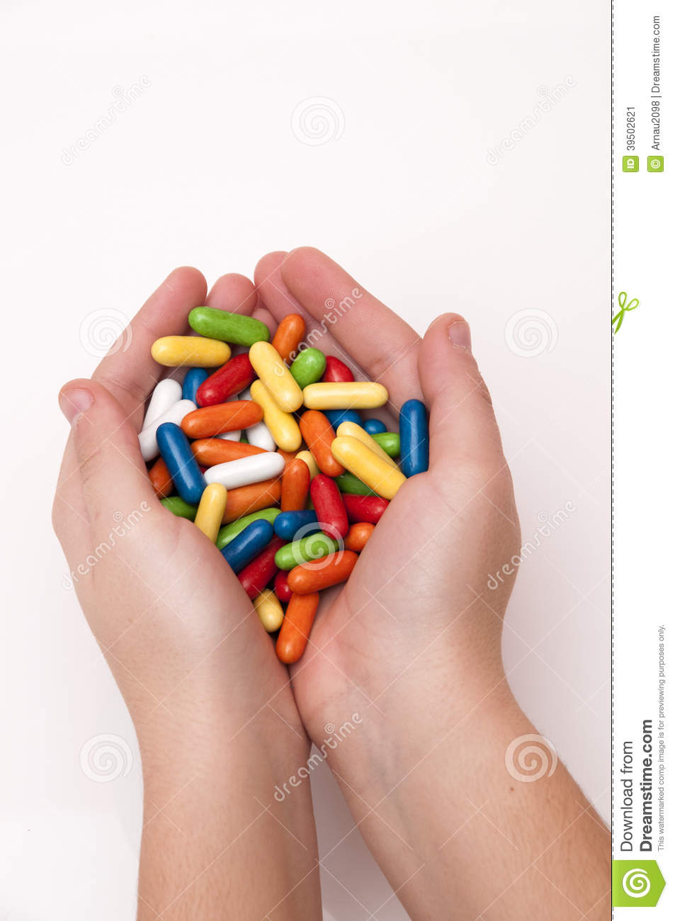Hand full of candy