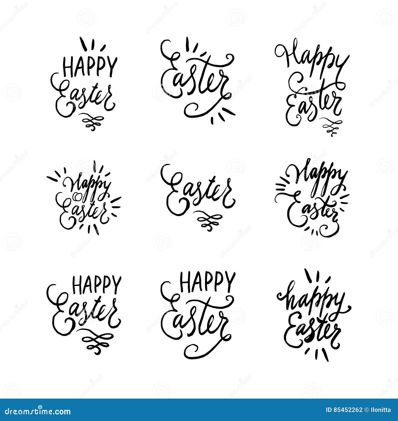 Citaten Pasen Jiwa : Hand geschreven het van letters voorzien pasen geplaatste