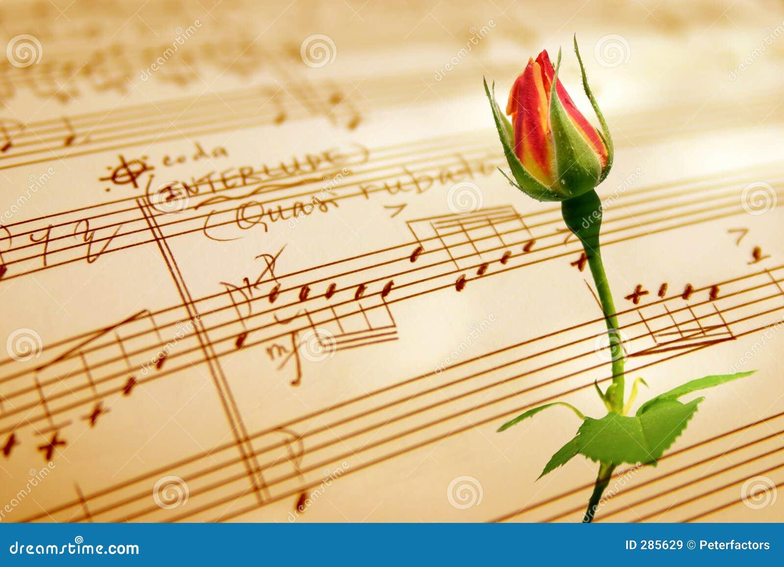 Hand geschreven muziekblad