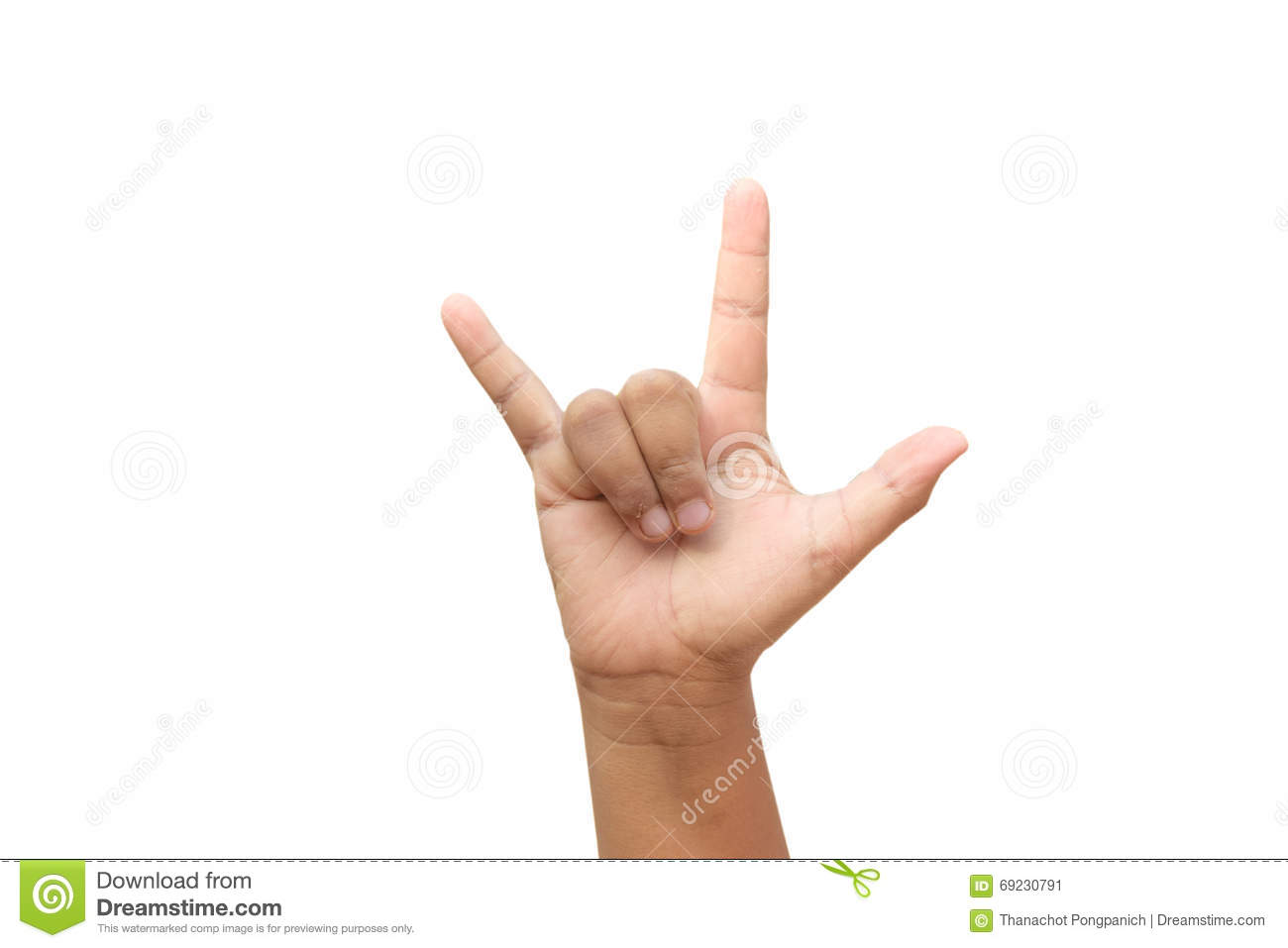 Hand Gesture For I Love You Stock Photo 69230791 Megapixl