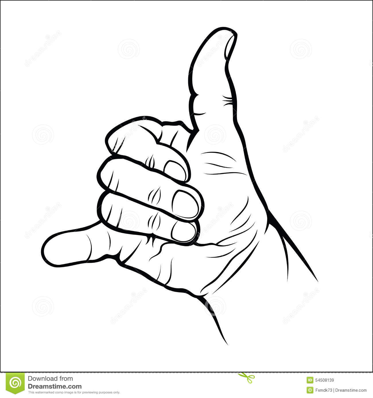 Hand Gestures - Call Me Stock Vector - Image: 54508139