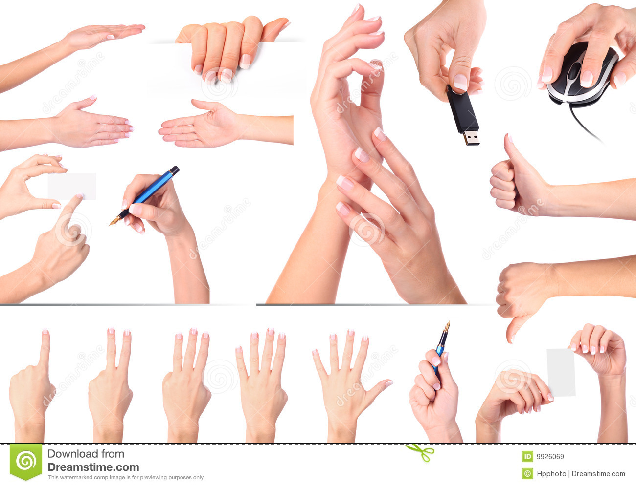 hand gestures set isolated stock image image of isolated nail