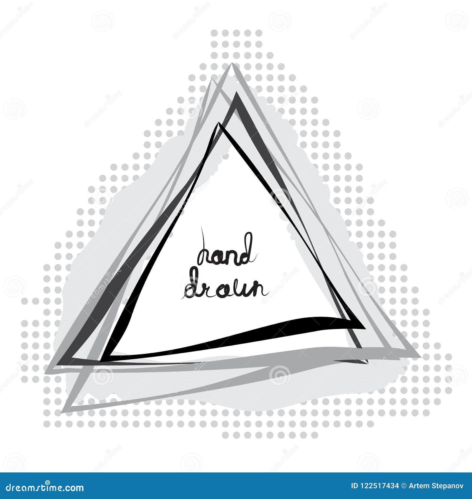 Hand Getrokken Geschetste Driehoek