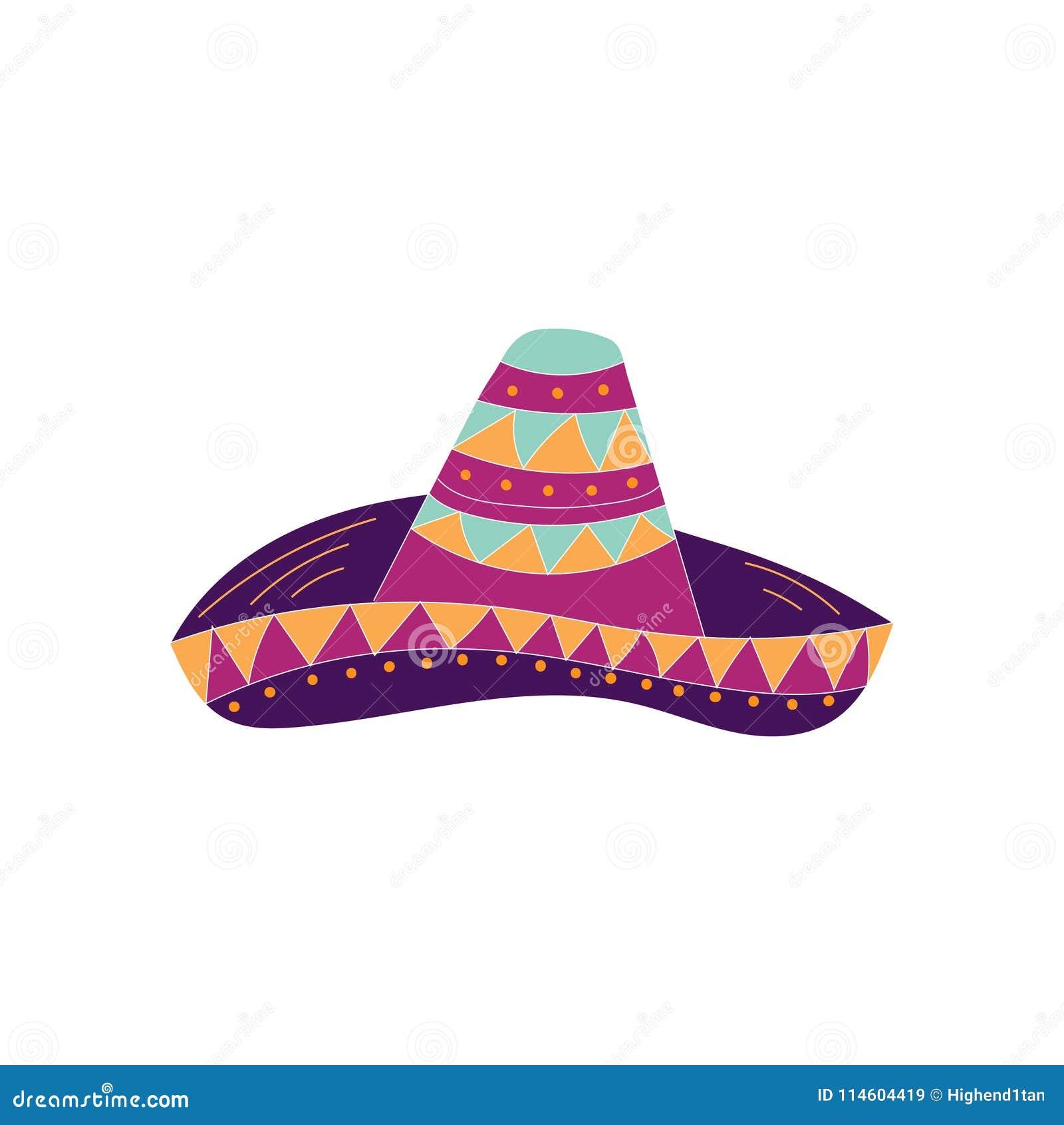 Hand getrokken sombreropictogram Kan voor banner of kaart voor Cinco de Mayo worden gebruikt