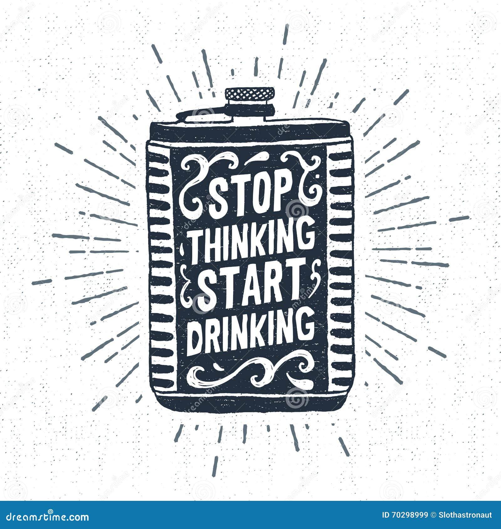 Hand getrokken uitstekend etiket met geweven fles vectorillustratie