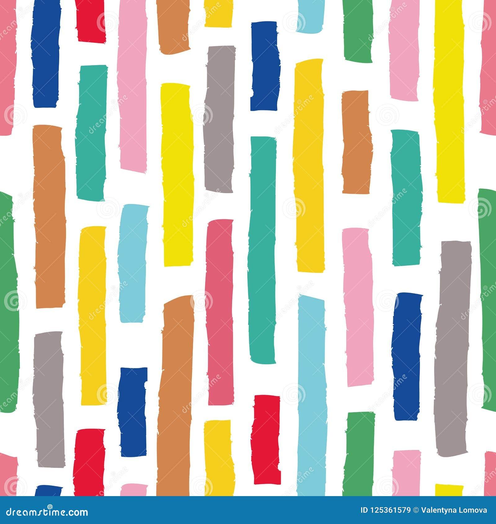 Hand getrokken vector naadloos patroon in eenvoudige stijl met strepen voor textielontwerp, document, het brandmerken