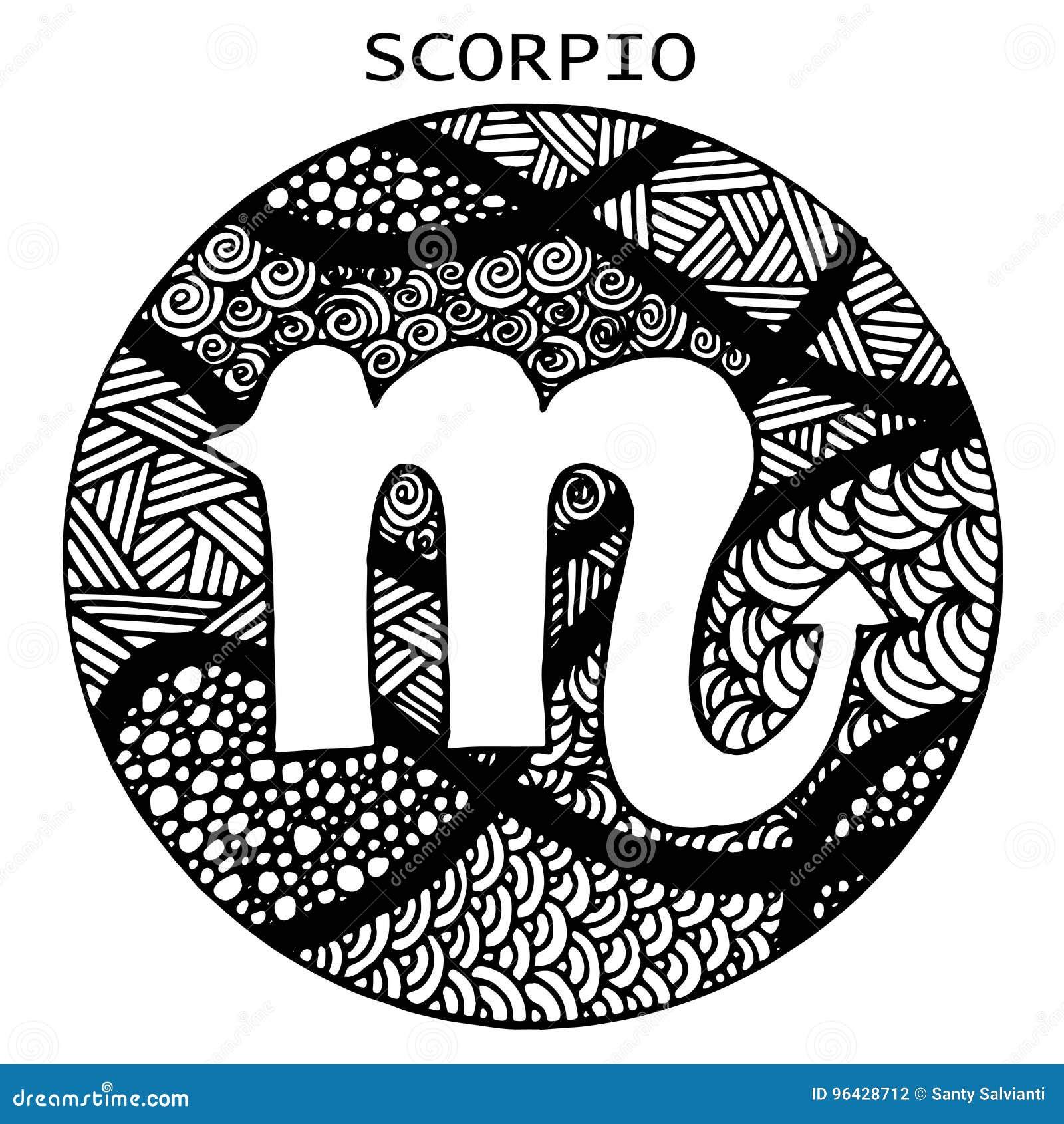 Hand Gezeichnet Ein Junge Mit Einem Skorpion Auch Im Corel