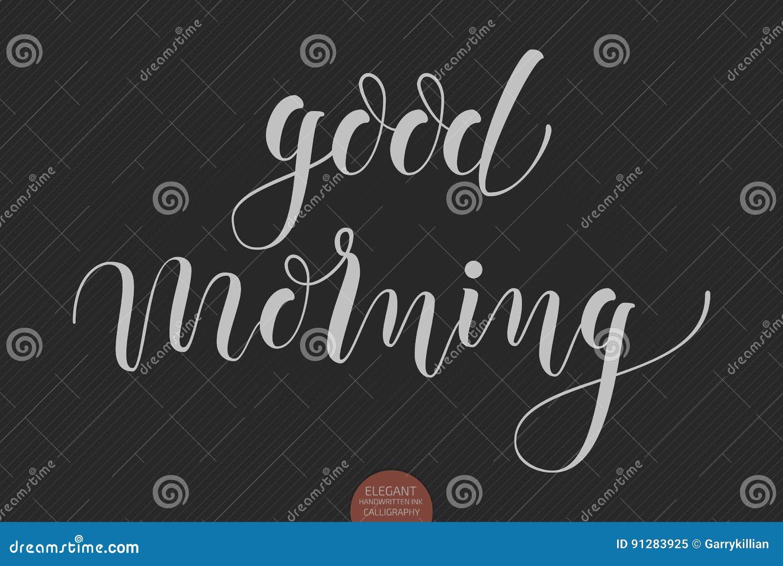 Hand Gezeichnet Guten Morgen Beschriftend Elegante Moderne
