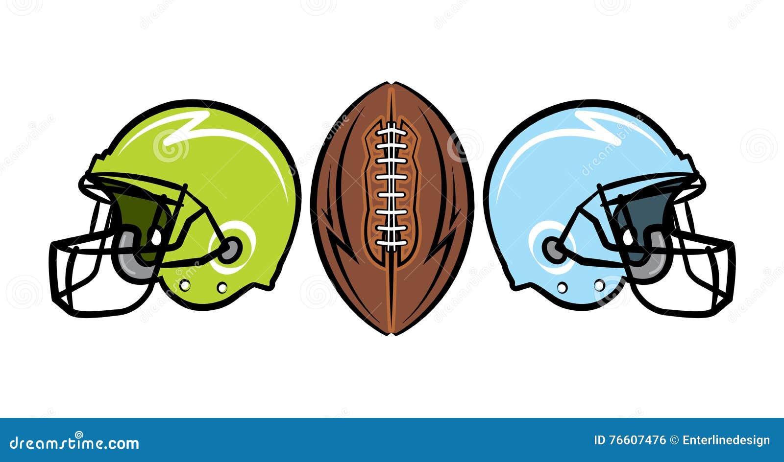 Hand Gezeichnete Amerikanischer Fussball Illustration Vektor