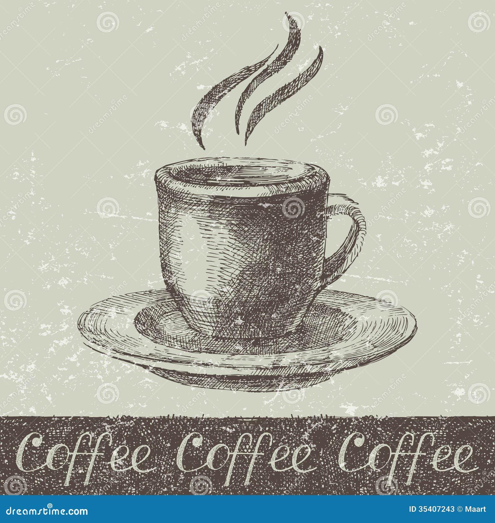 Hand Gezeichnete Kaffeetasse Vektor Abbildung Illustration Von