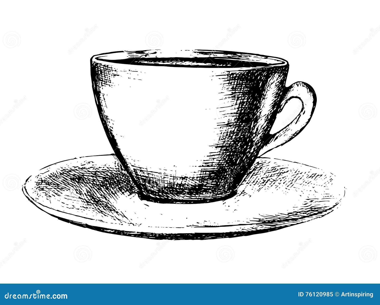 hand gezeichnete kaffeetasse vektor abbildung illustration von auslegung koffein 76120985. Black Bedroom Furniture Sets. Home Design Ideas