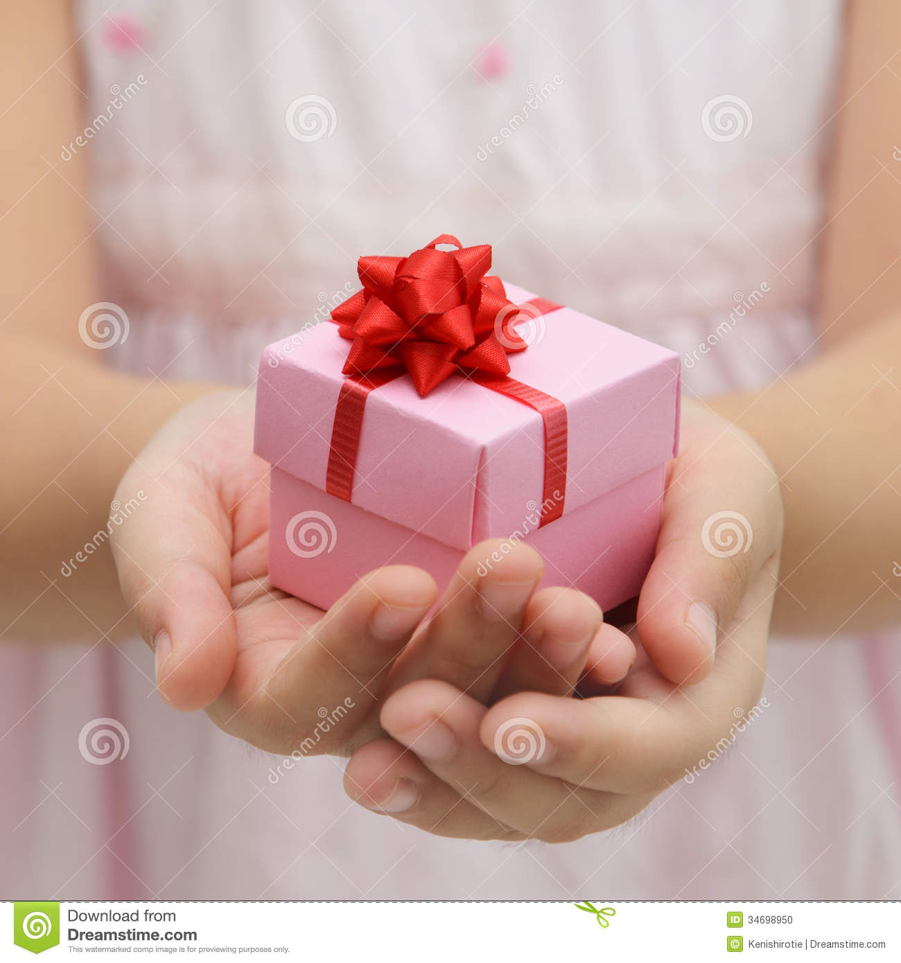 Hand With Gift Box Stock Photo - Image: 34698950