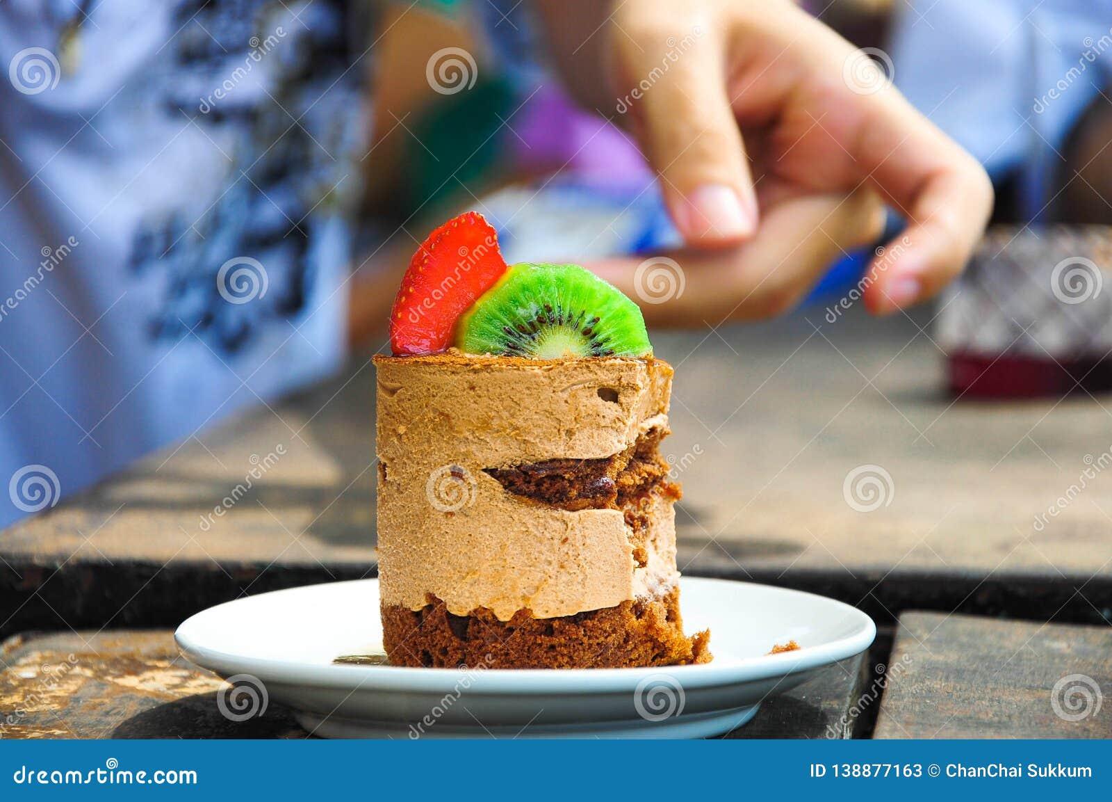 Before eating fruit cake