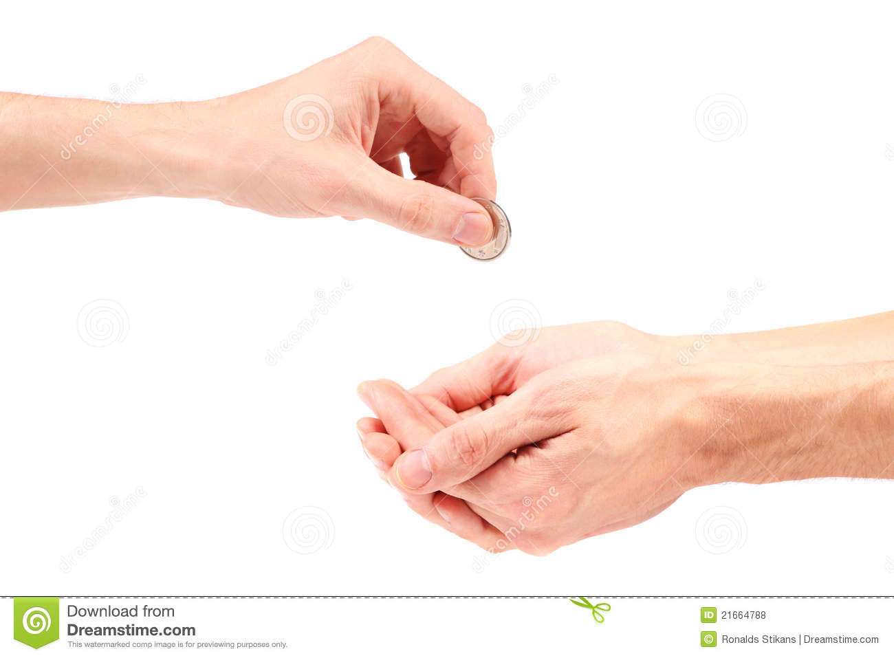 Hand gives coin to beggar stock photo. Image of beggar ...  Hand gives coin...