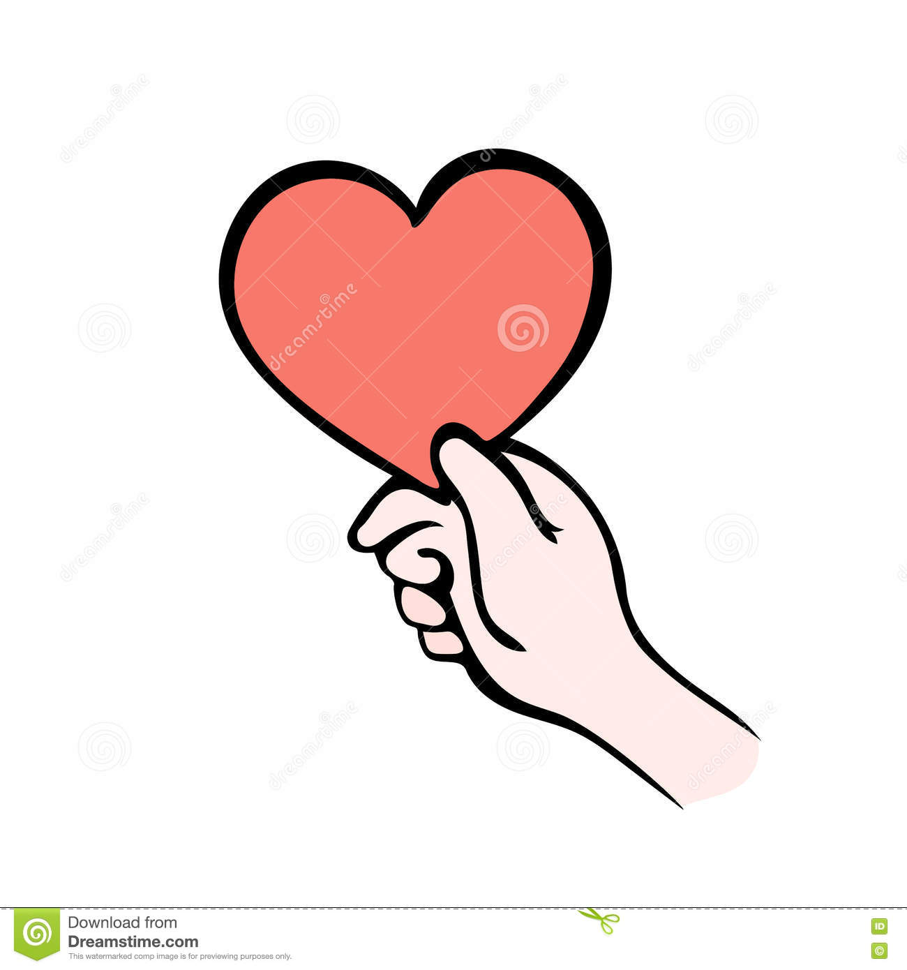 Hand Giving Heart Symbol On White Give Love Stock Vector