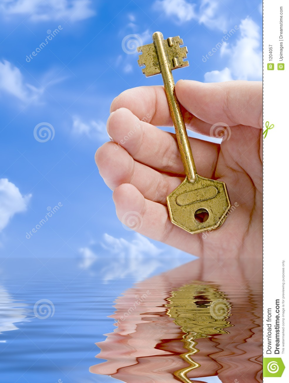 Hand Giving A Key