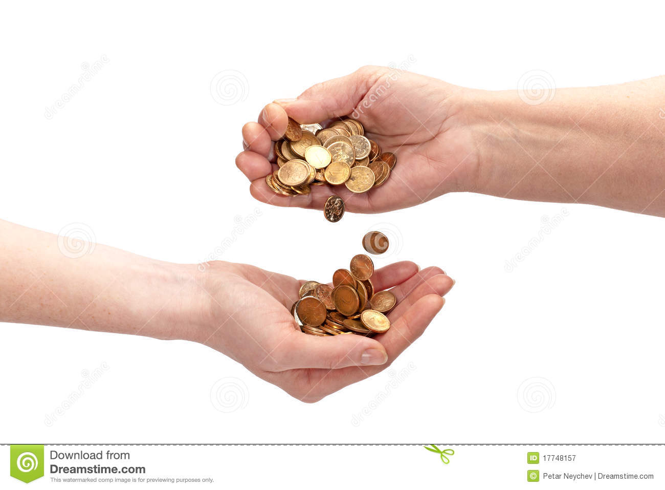 Home Design Free Coins Hand Giving Money Royalty Free Stock Photography Image