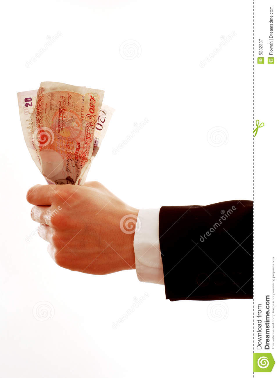 Hand giving money