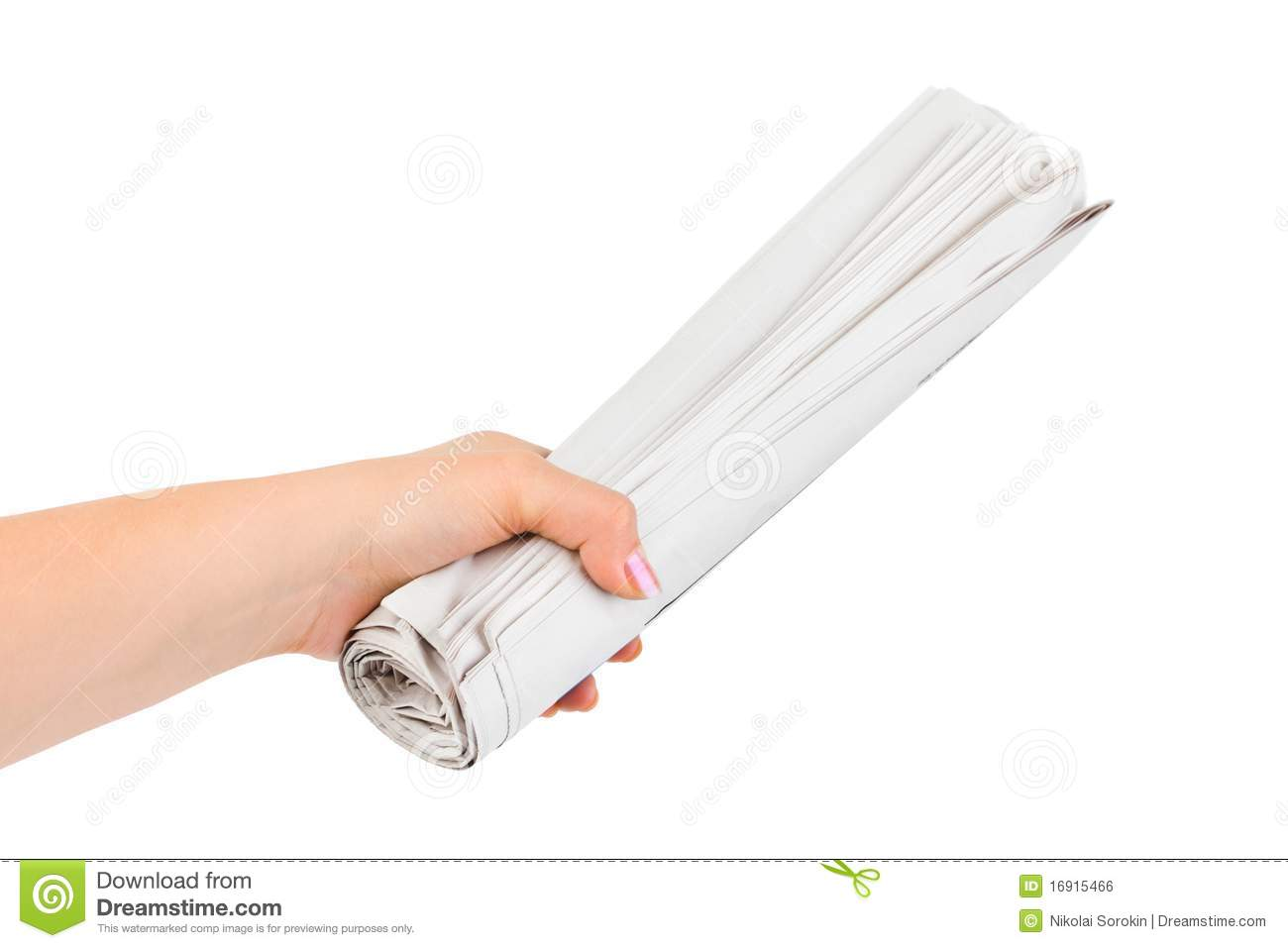 Hand Giving Newspapers Royalty Free Stock Image - Image ...