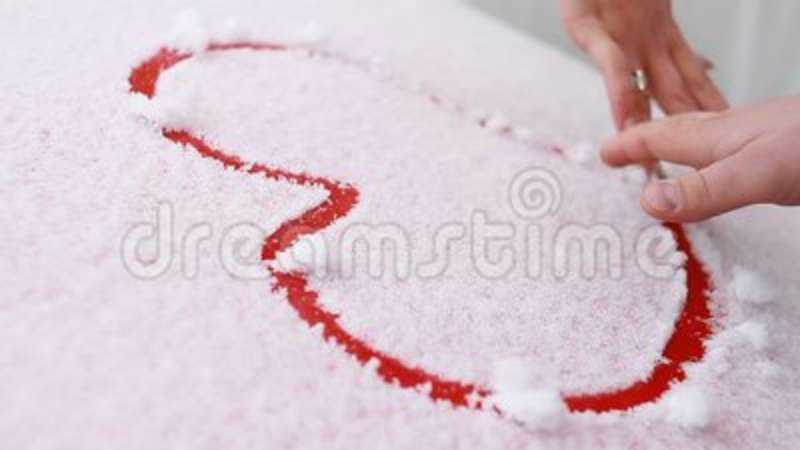 A Loving Couple Draw A Heart In The Snow Stock Video Video Of Date
