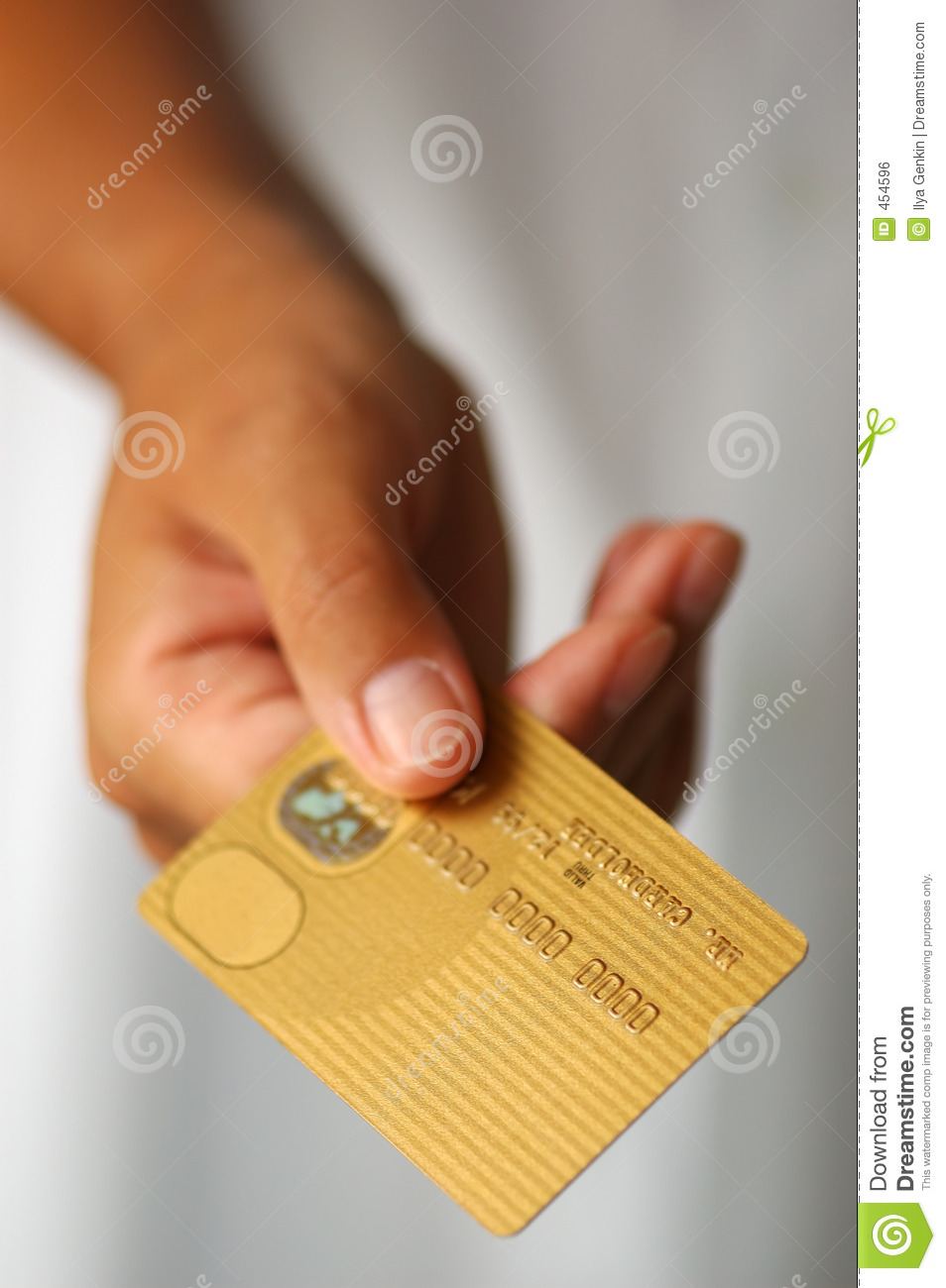 Download Hand With A Gold Credit Card Stock Photo - Image of commerce, money: 454596