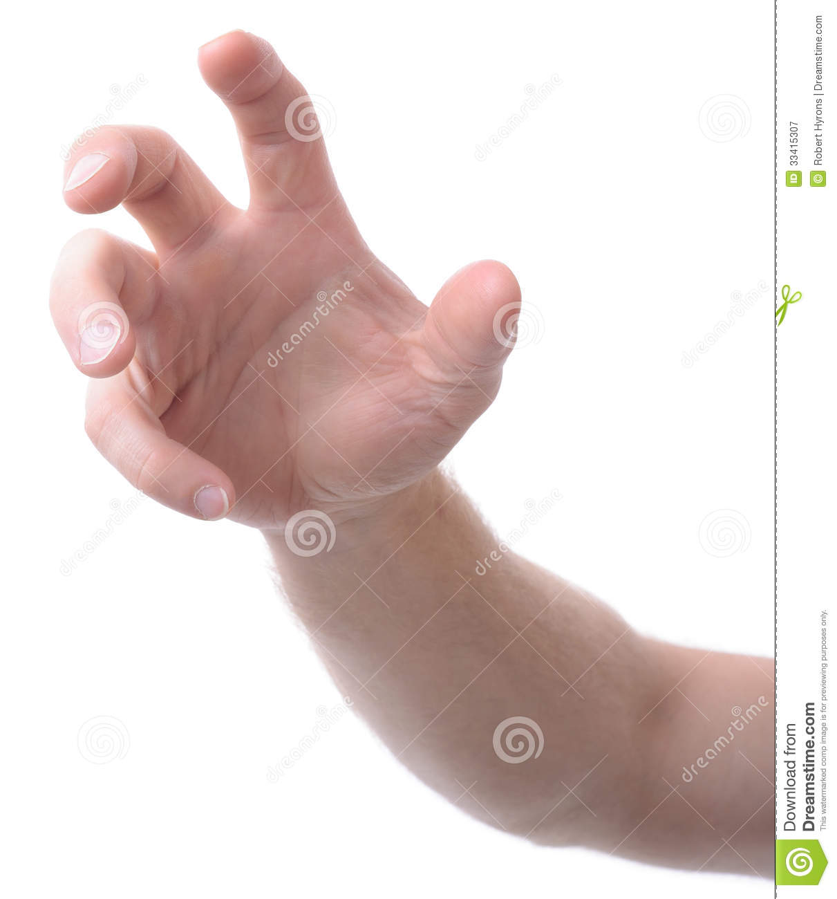 hand grab stock image image of view claw front ideas 33415307