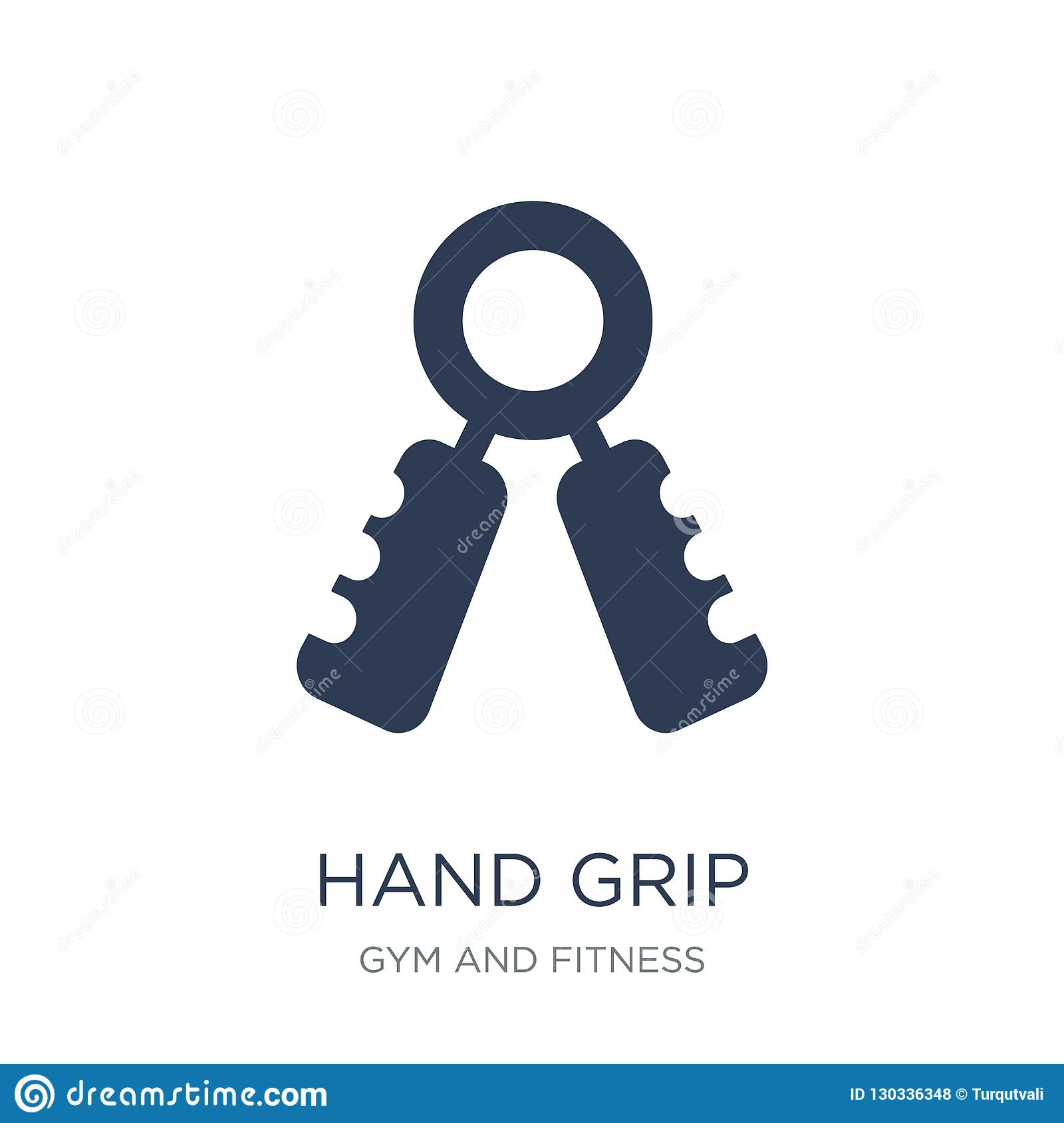 Hand grip icon. Trendy flat vector Hand grip icon on white background from Gym and fitness collection