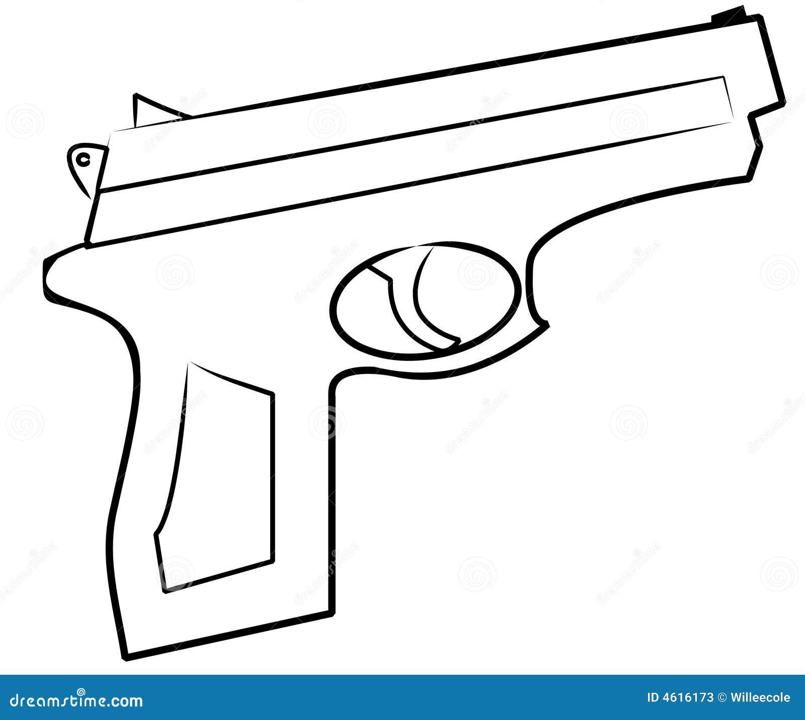 simple gun drawing
