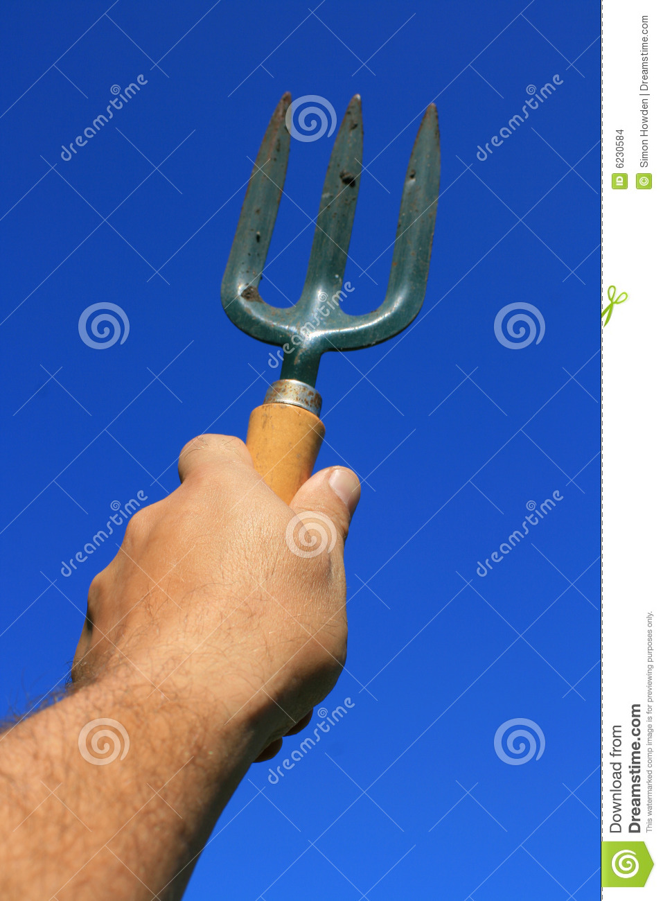 Hand held garden fork stock photo image of fork high for Small hand held garden tools