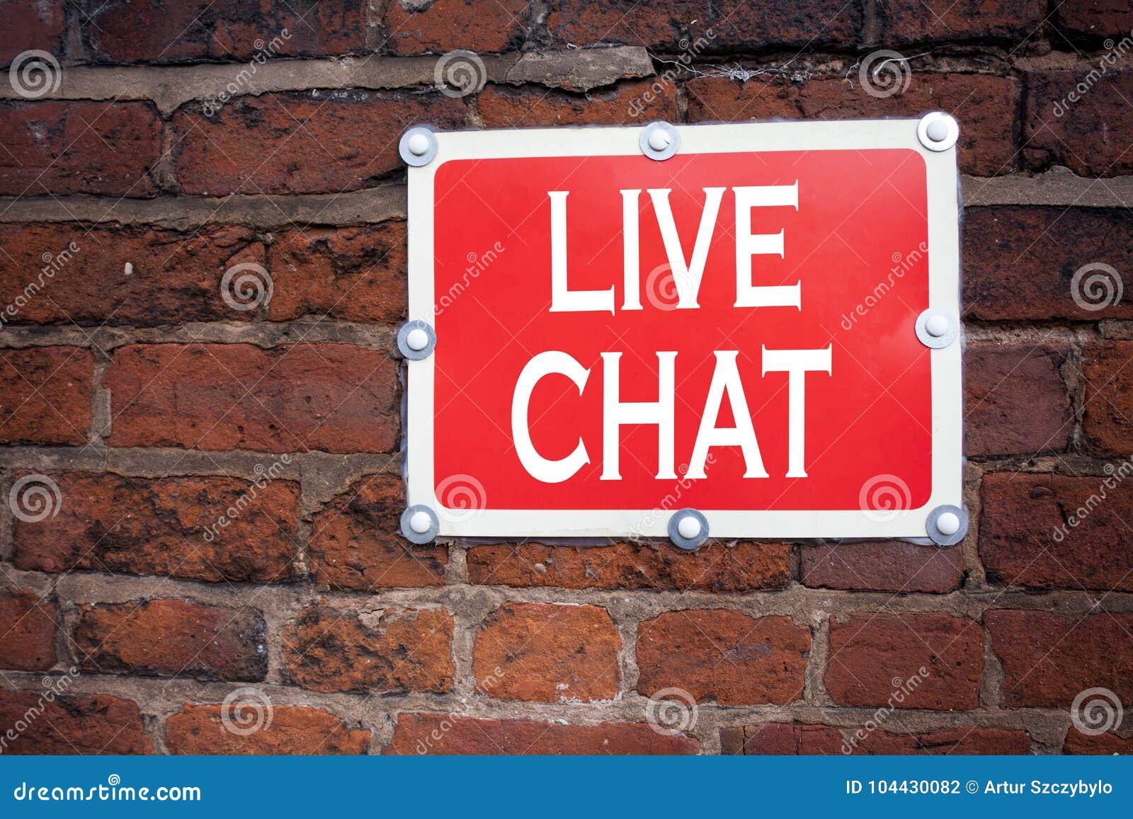 Hand het schrijven de inspiratie die van de teksttitel Live Chat-concept betekenen tonen die Mededeling Digitaal geschreven Webco