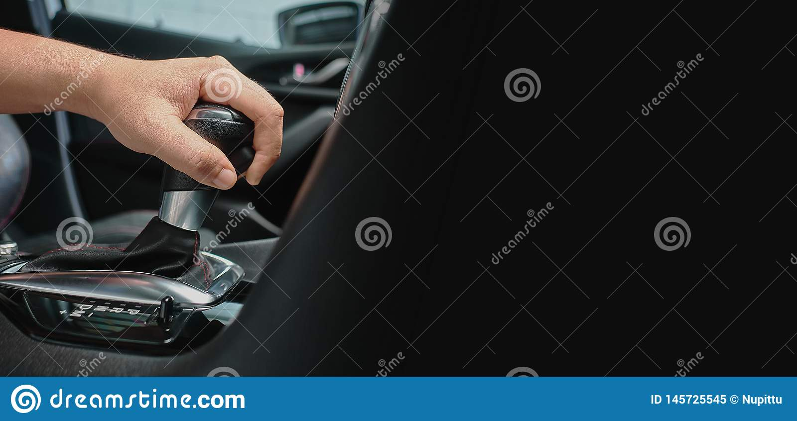 hand hold automatic transmission car lever.