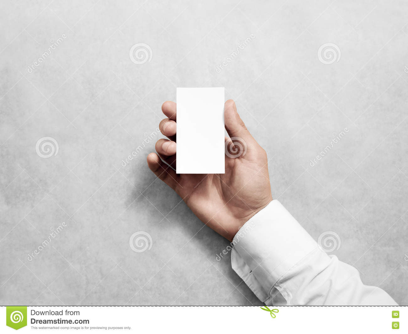 download hand hold blank vertical white business card design mockup stock image image of