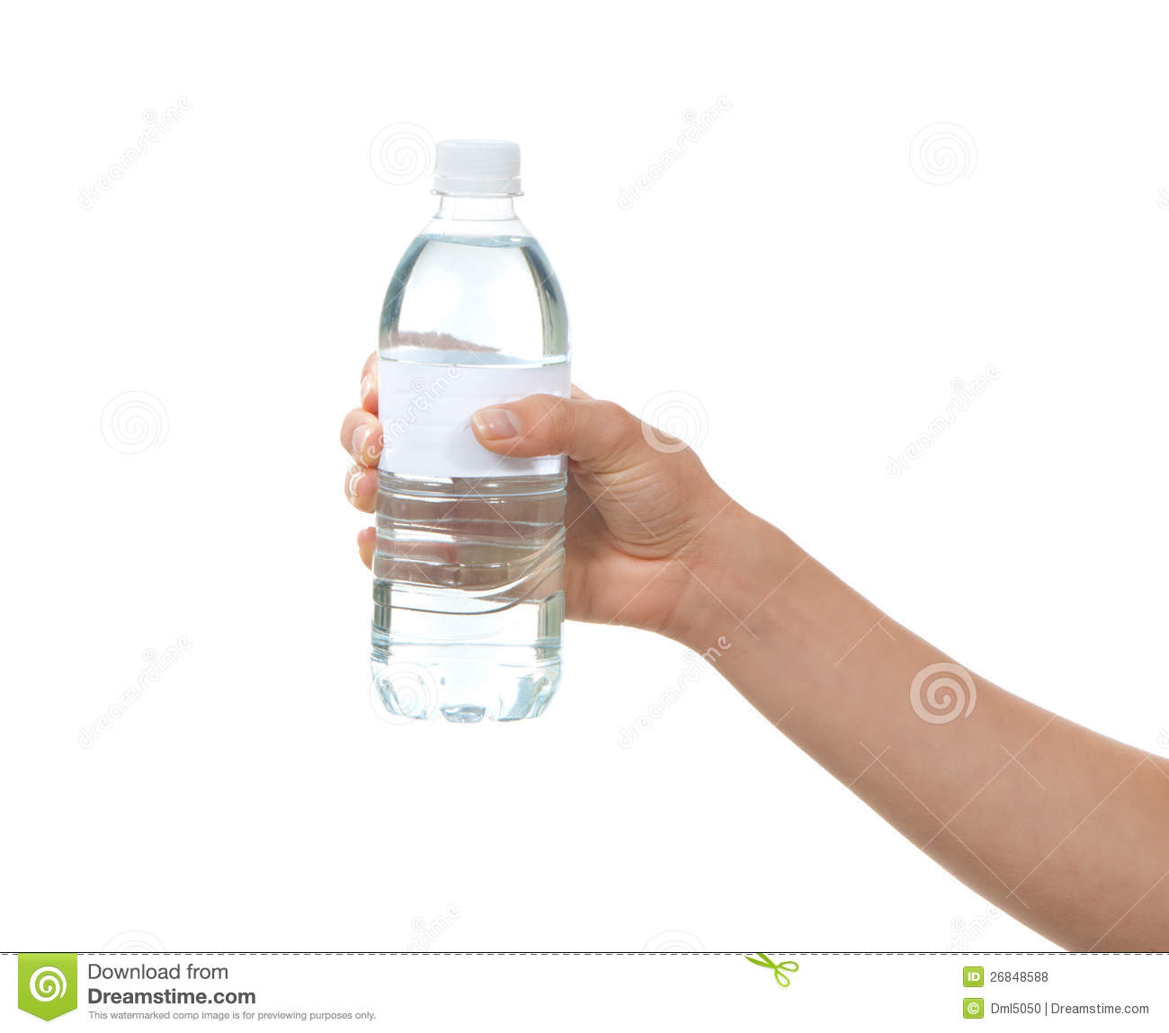 Hand Hold Bottle Of Drinking Water Stock Photo - Image of female