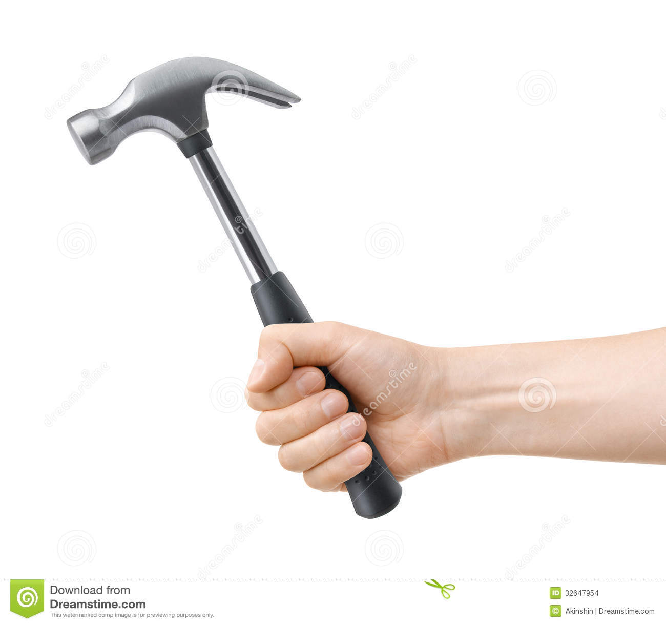 Hand Hold Hammer Stock Images Image 32647954