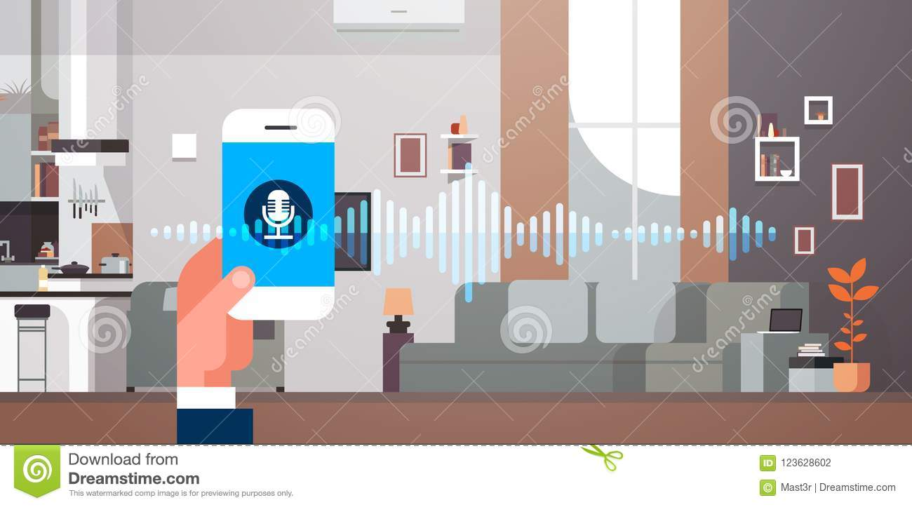 Hand Hold Phone App Intelligent Voice Personal Assistant