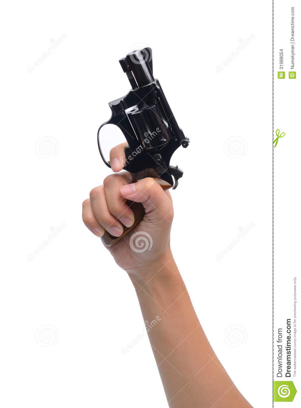 Hand Hold Revolver Gun Isolated Stock Photo - Image: 31988054