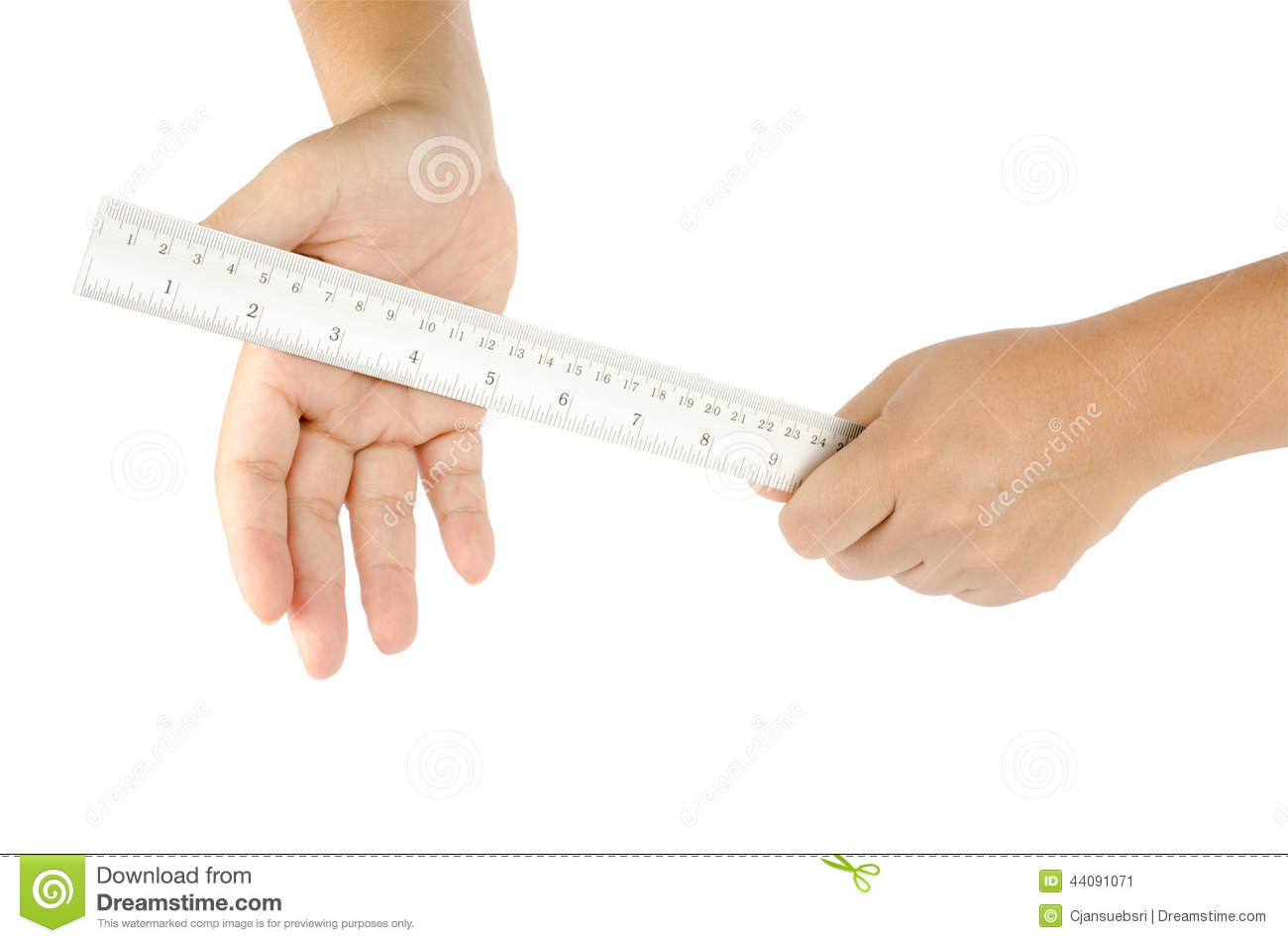 Hand Hold Ruler Hit Another Hand Stock Photo - Image: 44091071