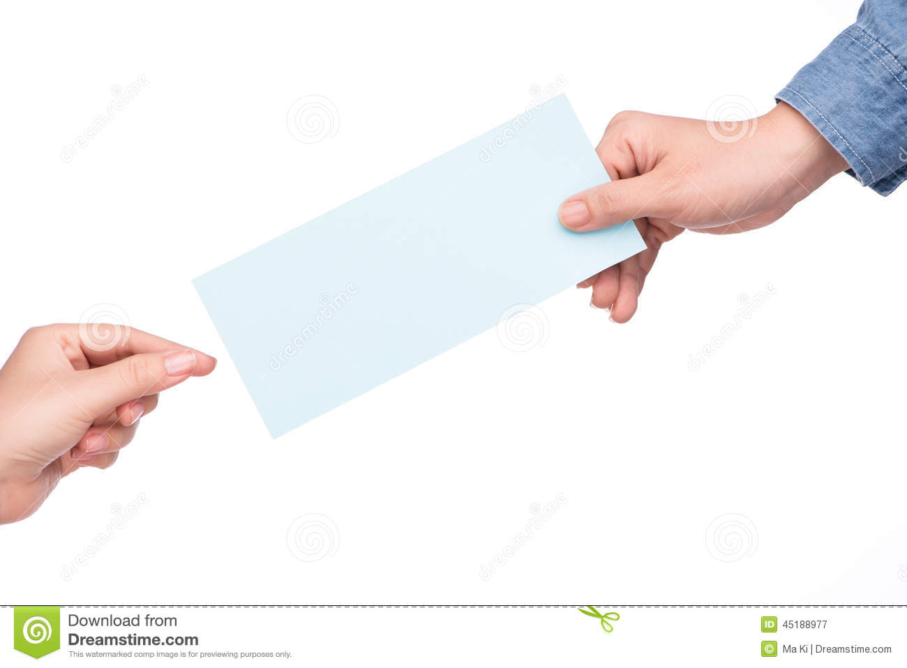 Hand Holding Airline Boarding Pass Ticket Isolated Over