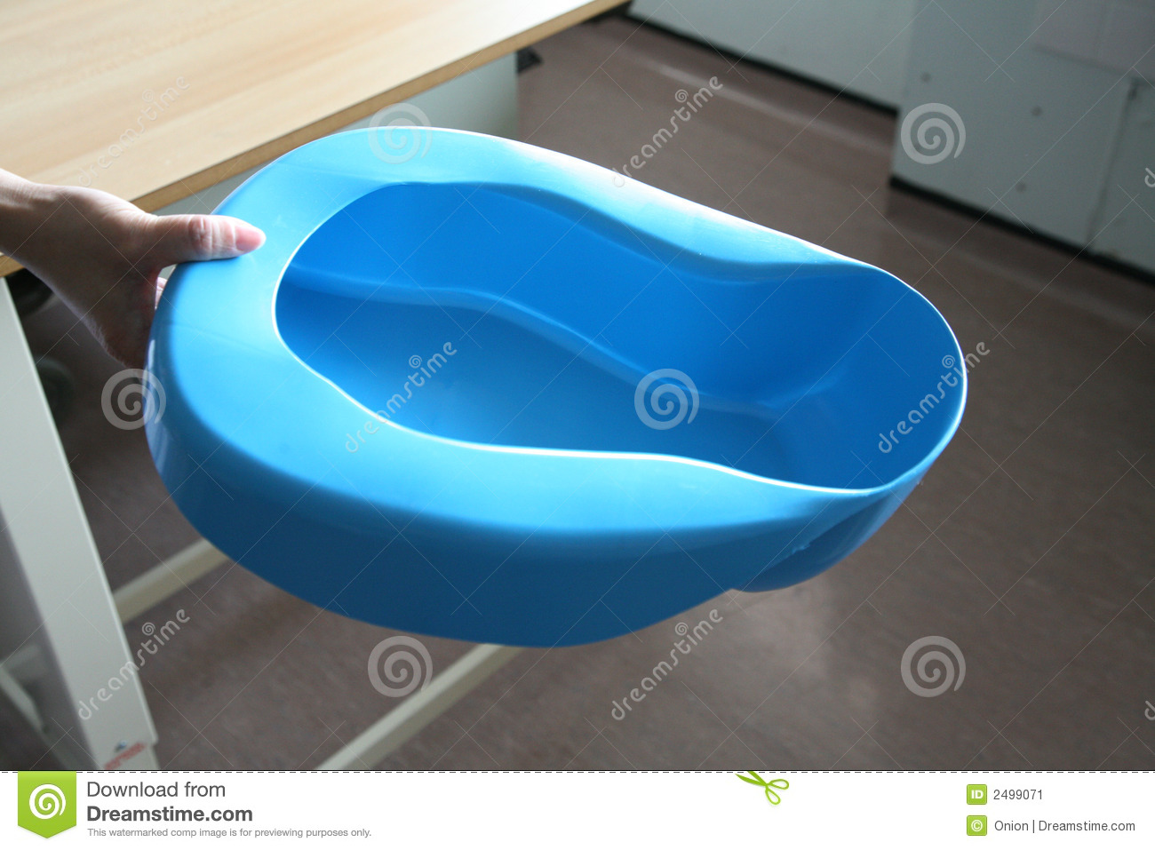 how to put a patient on a bedpan