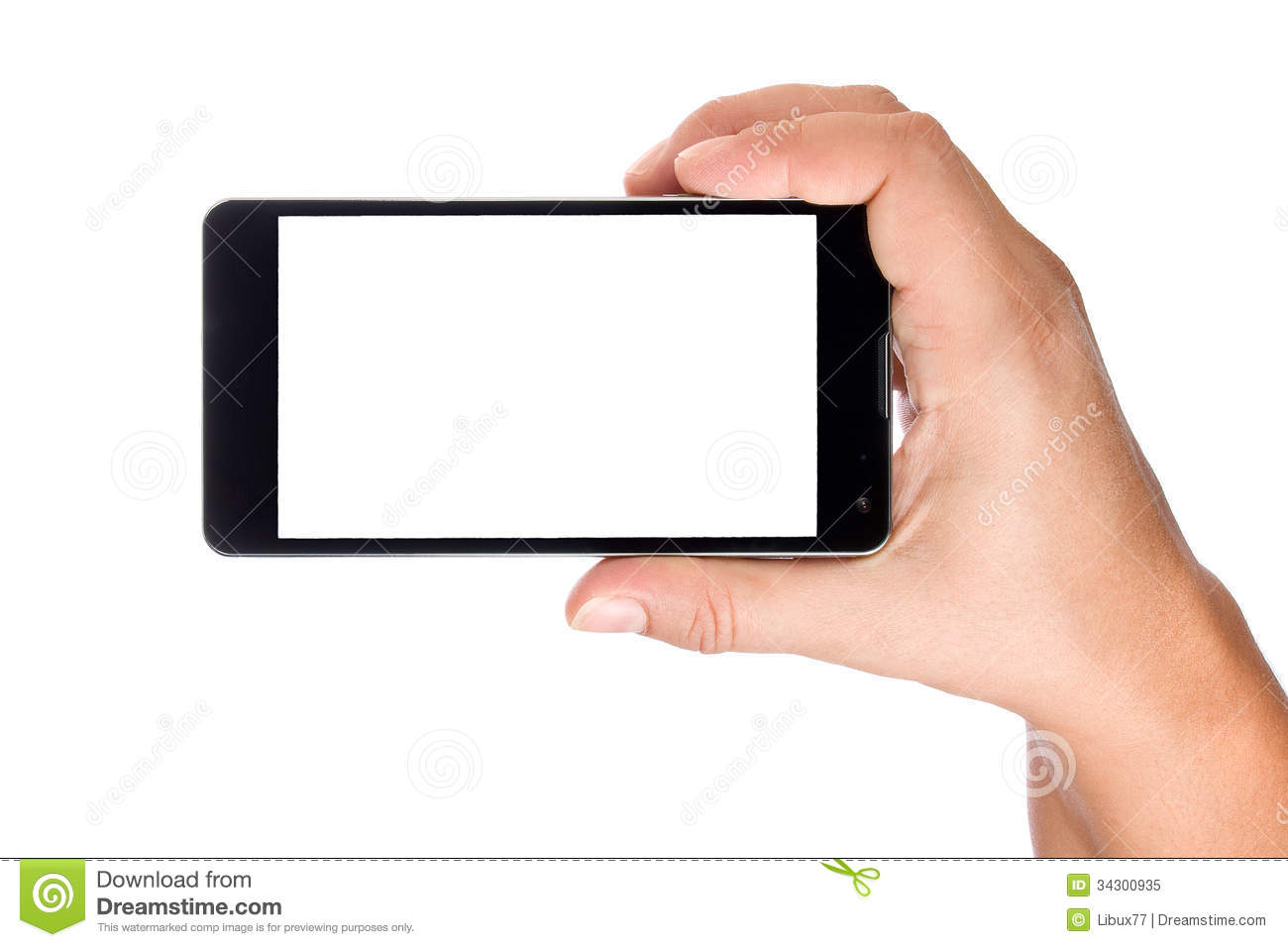 Hand Holding Big Modern Smartphone Stock Image Image Of