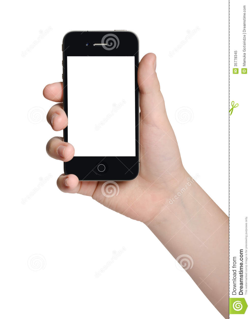 hand holding iphone holding a black phone stock image image of modern 10757