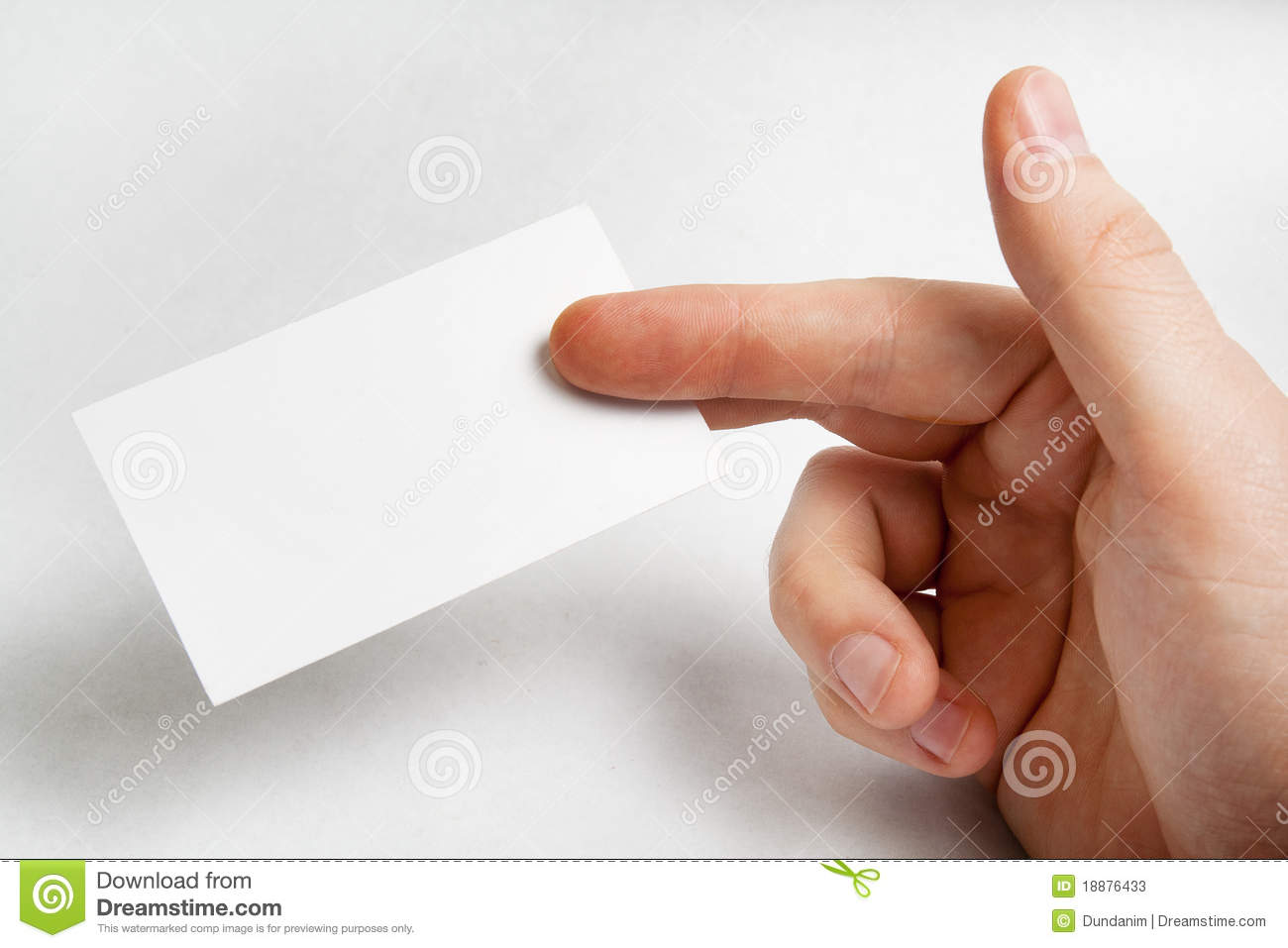 Hand Holding Blank Business Card Stock Photos - Image: 18876433