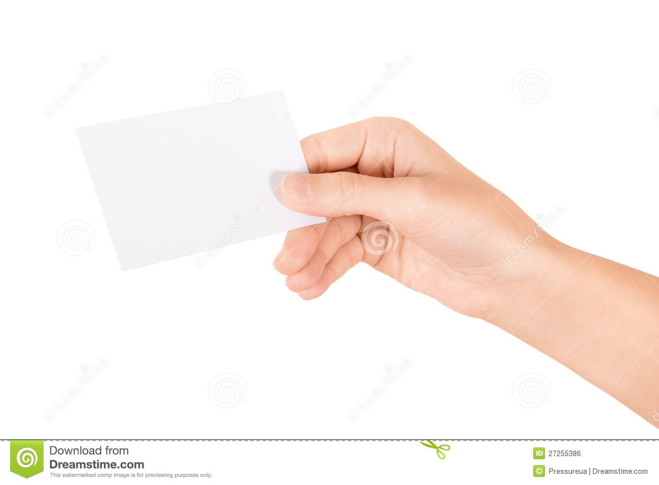 Hand Holding Blank Business Card Stock Photo - Image of giving ...