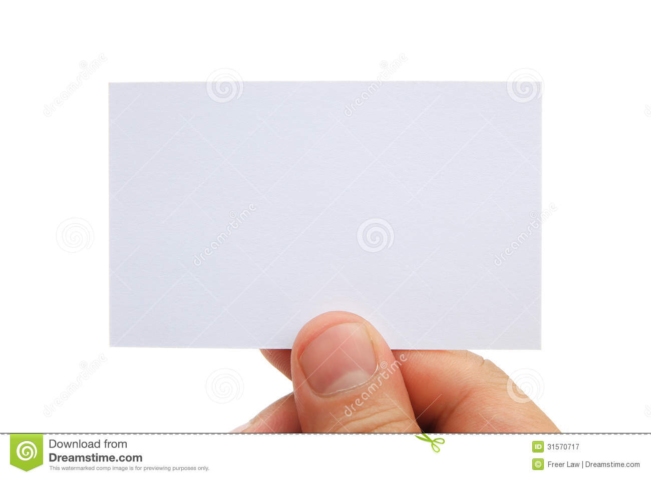Hand Holding A Blank Business Card Royalty Free Stock Photography ...