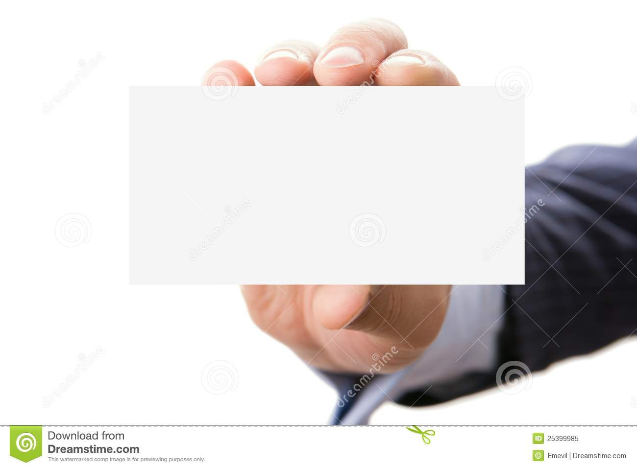 Hand holding blank card stock image. Image of front, clear ...