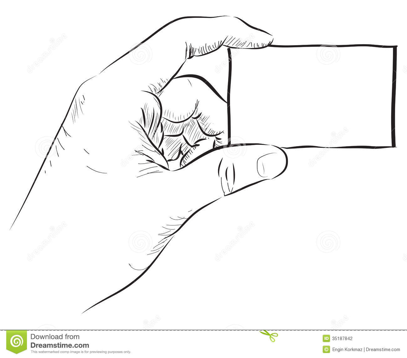 Hand Holding Blank Card Stock Photography Image 35187842