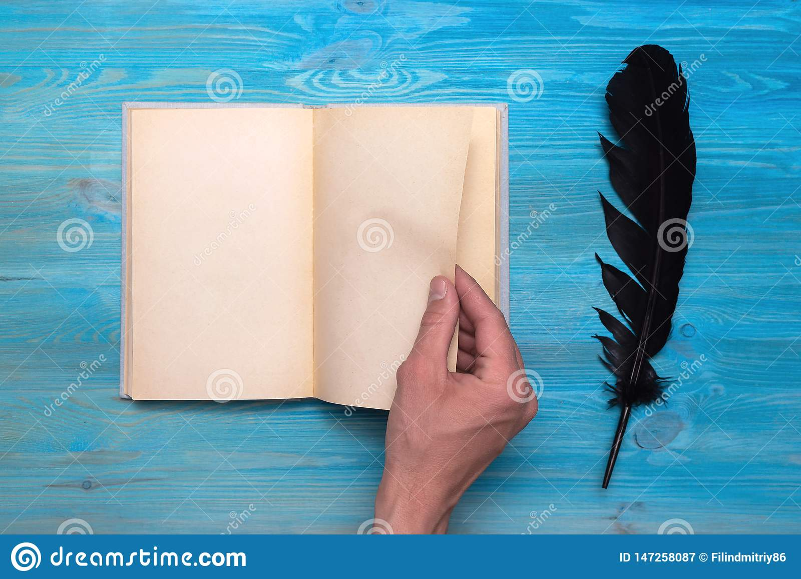 Open Book Stock Image Image Of Holding Blank Background