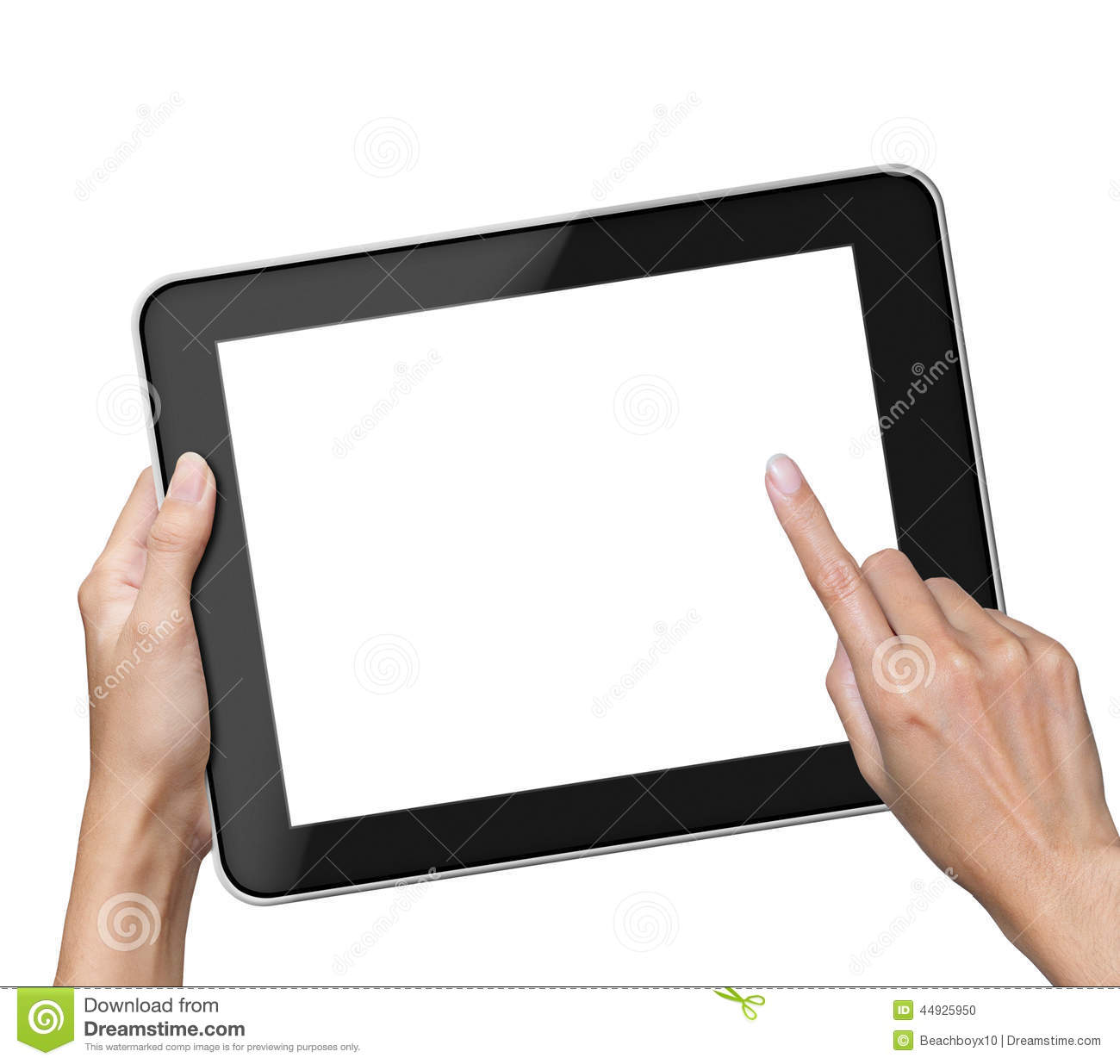 Hand holding blank screen Tablet
